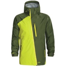 Oakley Primed Ski Jacket - Waterproof, Shell (For Men) in Enamel Mint/Dark Forest - Closeouts