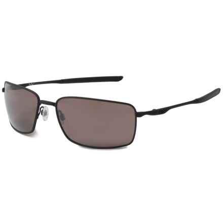 Oakley Prizm® Square Wire® Covert Sunglasses - Polarized in Matte Black - Overstock