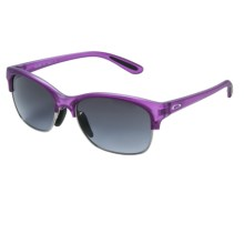 Oakley RSVP Sunglasses (For Women) in Frosted Purple Orchid/Black Grey Gradient - Closeouts