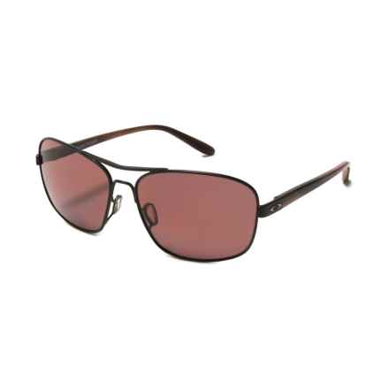 Oakley Sanctuary Sunglasses - Polarized (For Women) in Satin Black/Grey - Overstock