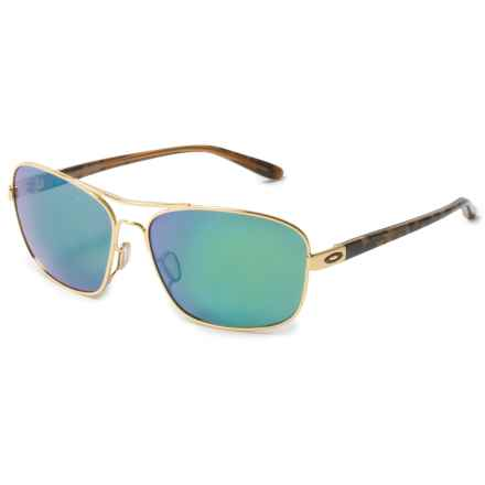 Oakley Sanctuary Sunglasses - Polarized, Iridium® Plutonite® Lenses (For Women) in Polished Gold/Jade - Overstock