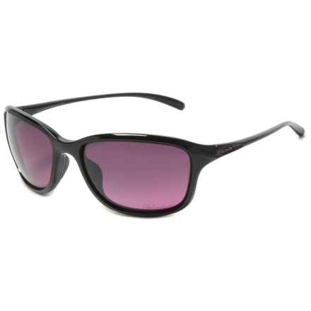 Oakley She's Unstoppable Sunglasses - Polarized (For Women) in Polished Black/Rose Gradient - Closeouts