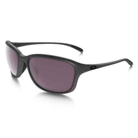 Oakley She's Unstoppable Sunglasses - Polarized (For Women) in Steel - Closeouts