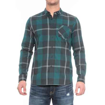 Oakley Shred Woven Shirt - Long Sleeve (For Men) in Forest Green - Closeouts