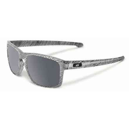 Oakley Sliver Fingerprint Sunglasses - Iridium® Lenses in Fingerprint White/Black Iridium - Closeouts