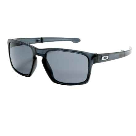 Oakley Sliver Foldable Sunglasses in Matte Grey Ink/Grey - Closeouts