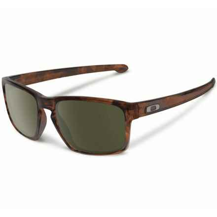 Oakley Sliver Sunglasses - Asia Fit in Matte Brown Tortoise/Dark Grey - Closeouts