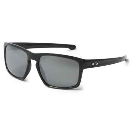 Oakley Sliver Sunglasses - Polarized, Iridium® Plutonite® Lenses in Polished Black/Black - Overstock