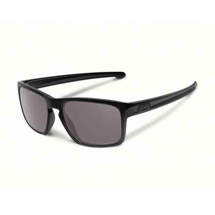 Oakley Sliver Sunglasses - Polarized Prizm Lenses in Polished Black - Closeouts