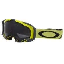 Oakley Splice Snowsport Goggles in Flight Series Lime/Dark Grey - Closeouts