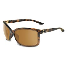 Oakley Step Up Sunglasses - Polarized (For Women) in Tortoise/Bronze - Closeouts