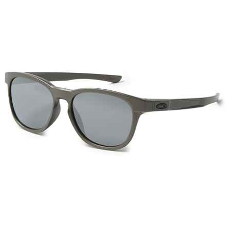 Oakley Stringer Sunglasses - Iridium® Plutonite® Lenses in Lead/Black - Overstock