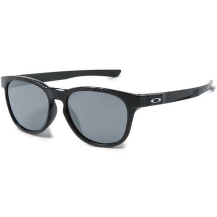 Oakley Stringer Sunglasses - Iridium® Plutonite® Lenses in Polished Black/Black Iridium - Overstock