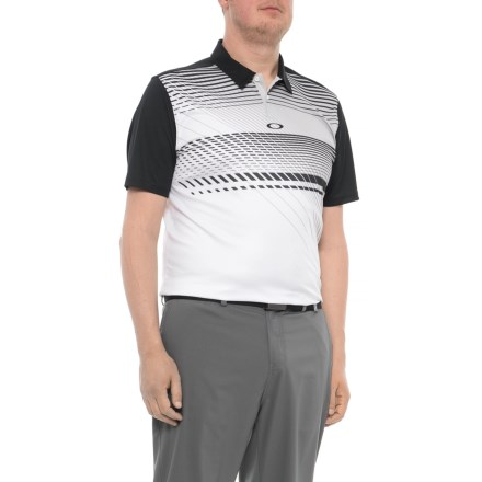 02603f327 Oakley Superior Polo Shirt - Short Sleeve (For Men) in Blackout - Closeouts