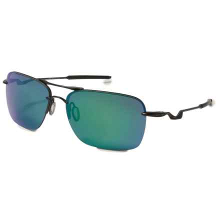 Oakley Tailback Sunglasses - Iridium® Lenses in Satin Black/Jade Iridium - Overstock