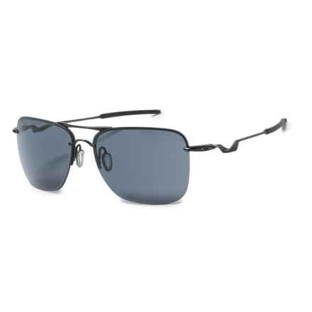 Oakley Tailhook Sunglasses - Iridium® Lenses in Satin Black/Grey - Closeouts