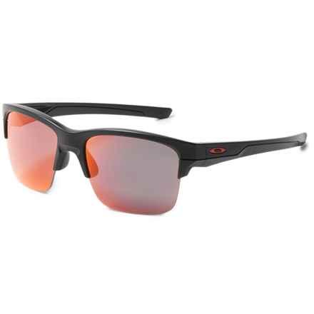 Oakley Thinlink Iridium® Sunglasses - Plutonite® Polarized Lenses in Matte Black/Torch - Overstock
