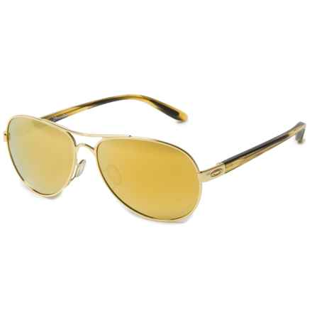 Oakley Tie Breaker Sunglasses - Polarized Iridium® Lenses (For Women) in Gold 24K Iridium - Overstock