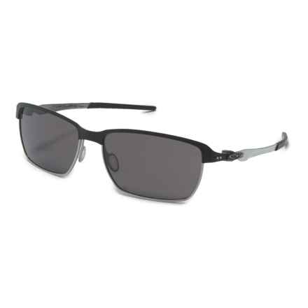 Oakley Tinfoil Carbon Sunglasses - Polarized Plutonite® Lenses in Matt Black/Warm Grey - Closeouts