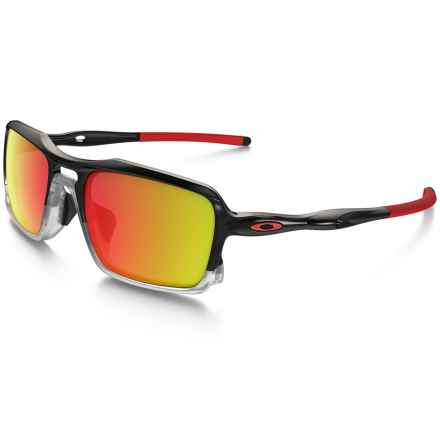 Oakley Triggerman Sunglasses - Iridium® Lenses in Black Ink/Ruby Iridium - Closeouts