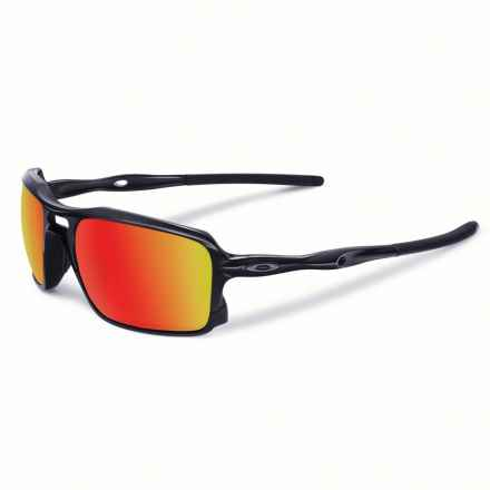 Oakley Triggerman Sunglasses - Iridium® Lenses in Black/Ruby - Closeouts