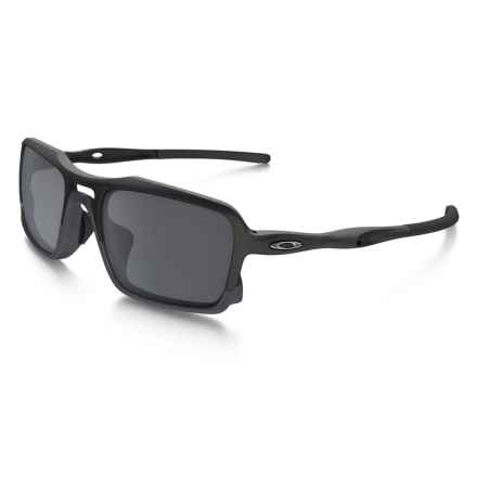 Oakley Triggerman Sunglasses - Iridium® Lenses in Matte Black/Black - Closeouts