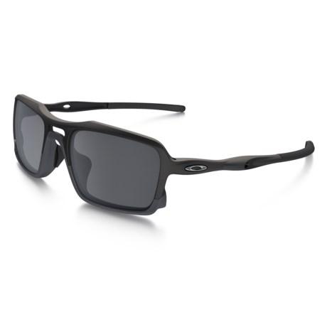Oakley Triggerman Sunglasses - Iridium® Lenses in Matte Black/Black