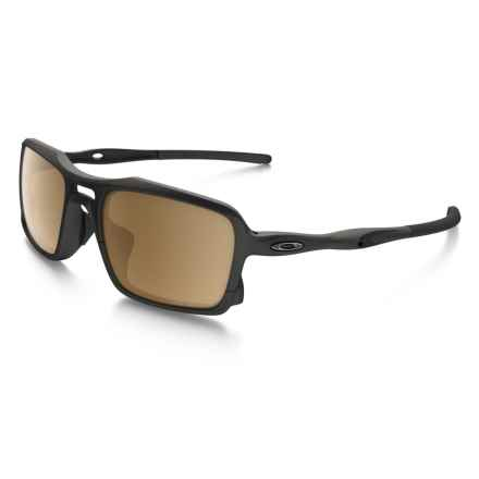 Oakley Triggerman Sunglasses - Polarized (For Men and Women) in Black Matte - Closeouts