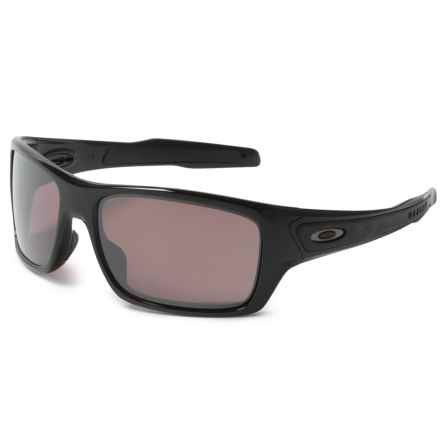 Oakley Turbine Prizm® Daily Sunglasses - Polarized Plutonite® Lenses in Polished Black - Overstock