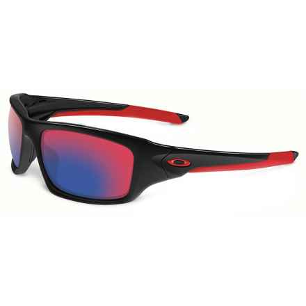 Oakley Valve Sunglasses - Polarized Iridium® Lenses (For Men and Women) in Black/Red Iridium - Closeouts