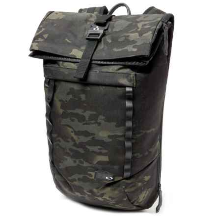 Oakley Voyage 23 Roll-Top Multi Camo Backpack in Black Multicam - Closeouts