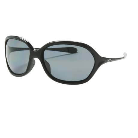 Oakley Warm Up Sunglasses - Polarized (For Women) in Polished Black/Grey