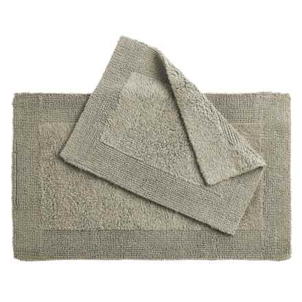 Oasis Corsica Cotton Bath Rugs - 2-Pack, Reversible in Grey - Overstock