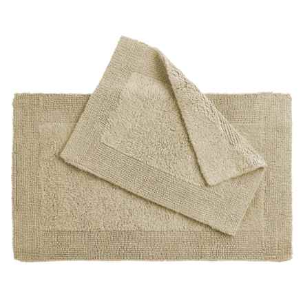 Oasis Corsica Cotton Bath Rugs - 2-Pack, Reversible in Sandlewood Tan - Overstock