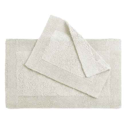 Oasis Corsica Cotton Bath Rugs - 2-Pack, Reversible in White - Overstock