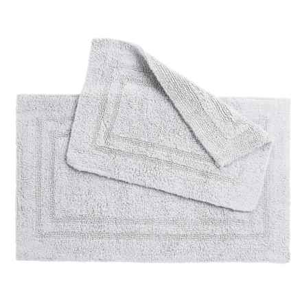 Oasis Double Racetrack Cotton Bath Rugs - 2-Pack, Reversible in White - Overstock