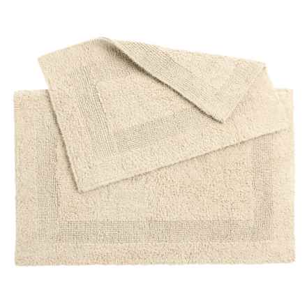 Oasis Single Racetrack Cotton Bath Rugs - 2-Pack, Reversible in Vanilla - Overstock