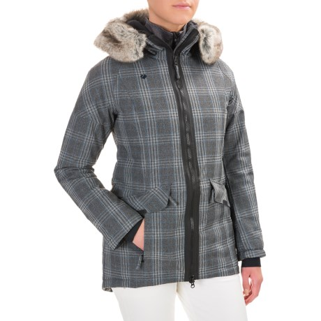 Obermeyer Alexa Parka - Waterproof, Insulated (For Women) in Plaid Heather