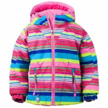 Obermeyer Arielle Snow Jacket - Waterproof, Insulated (For Toddlers and Little Girls) in Carnival Stripe - Closeouts