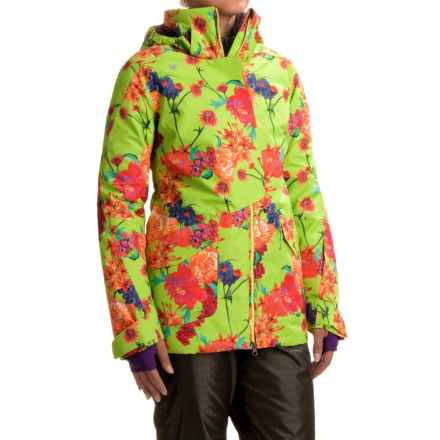 Obermeyer Aura Ski Jacket - Waterproof, Insulated (For Women) in Flower Burst - Closeouts