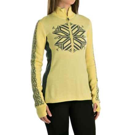 Obermeyer Avalon Sweater - Merino Wool Blend, Zip Neck (For Women) in Daffodil - Closeouts