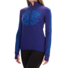 Obermeyer Avalon Sweater - Merino Wool Blend, Zip Neck (For Women) in Regal Blue - Closeouts