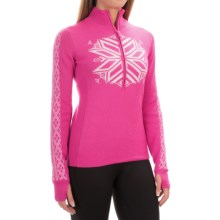 Obermeyer Avalon Sweater - Merino Wool Blend, Zip Neck (For Women) in Vivacious Pink - Closeouts