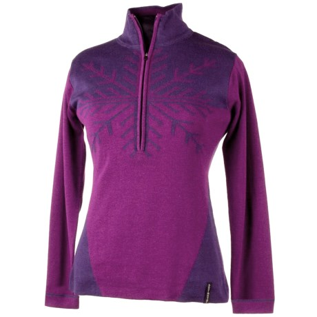 Obermeyer Avanti Sweater - Zip Neck (For Women) in Mulberry