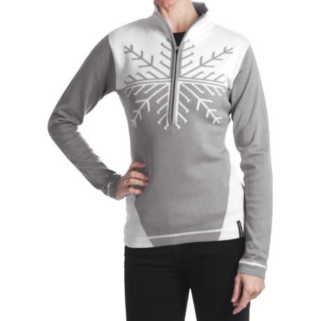 Obermeyer Avanti Sweater - Zip Neck (For Women) in Quarry