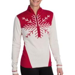 Obermeyer Avanti Sweater - Zip Neck (For Women) in Mulberry