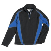 Obermeyer Badger Pullover - Zip Neck (For Boys) in Galaxy Blue - Closeouts
