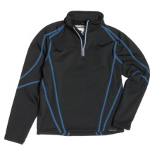 Obermeyer Badger Pullover - Zip Neck (For Boys) in Jester - Closeouts