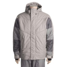 Obermeyer Baffle Ski Jacket - Insulated (For Men) in Tri-Grey - Closeouts
