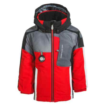 Obermeyer Blaster Ski Jacket - Waterproof, Insulated (For Little and Big Boys) in Red/Grey/Black - Closeouts